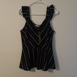 Monteau Women's Sleeveless Top Large NEW